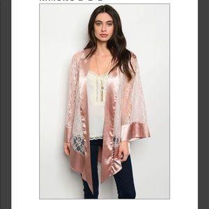 Blush kimono sleeve